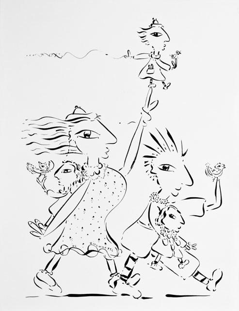Équilibriste-99, 72 x 57 cm    - © Alain Bissonnette tous droits réservés