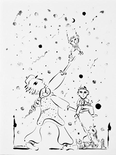Il neige-99, 72 x 57 cm   - © Alain Bissonnette tous droits réservés