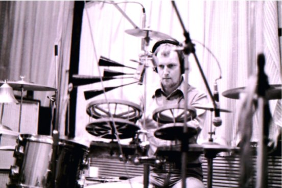 Chris Slade in The Workhouse 1974-5 (Photo: Unknown)