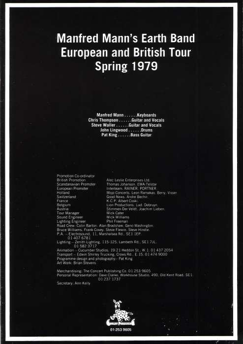 Angel Station Tour Programme Page 2