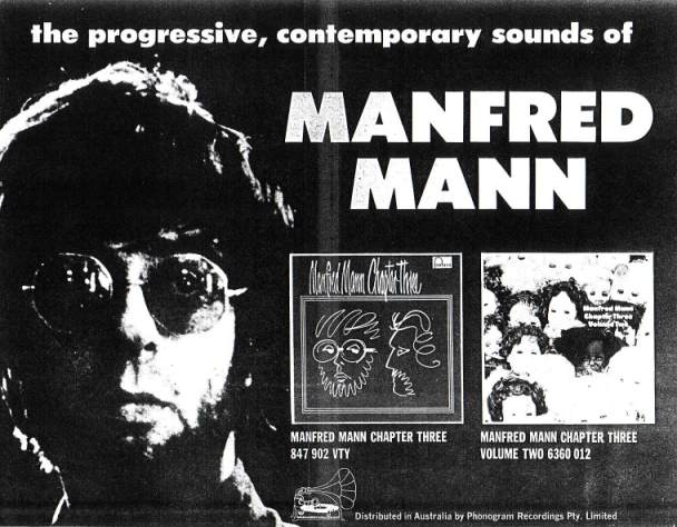 Manfred Mann Chapter 3 Press Advert