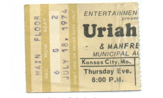 Ticket Stub - Kansas City, Missouri, USA Municipal Auditorium
