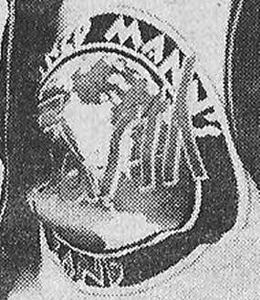 A close up of the prototypic MMEB logo, note the 'Band' appears on the outer rim.