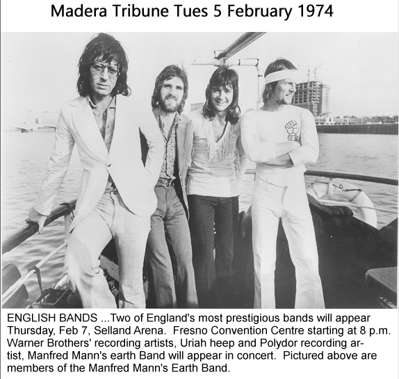 Press Cutting from Madera Tribune 5 Feb 1974 (re-typed due to poor quality of original)