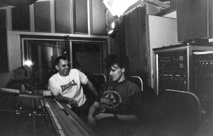 Richard Burgess producing German band Roman – Studio Two 1993 (Photo: Unknown)