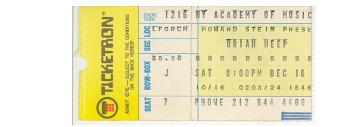 MMEB Ticket Stub - New York Academy of Music (New York, NY) - December 16, 1972
