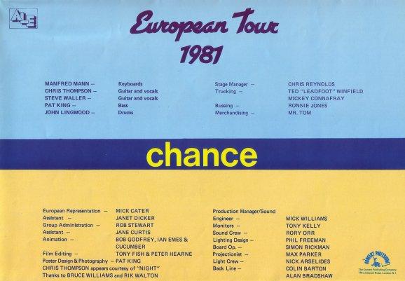 Chance Tour Programme Page 3