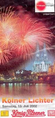 Koln Lichter (Rhine in Flames) poster 13 July 2002