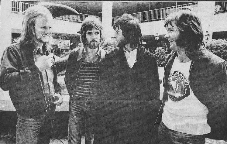 Manfred Mann's Earth Band 1972.  Note the prototypic logo on Colin's T-shirt