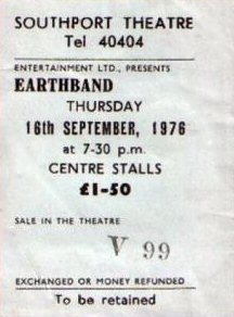 Ticket Stub - Floral Pavilion Southport 16-9-76