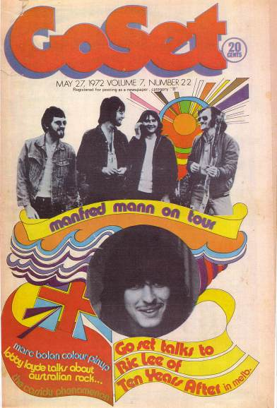 Go Set Magazine Front Cover - 27 May 1972