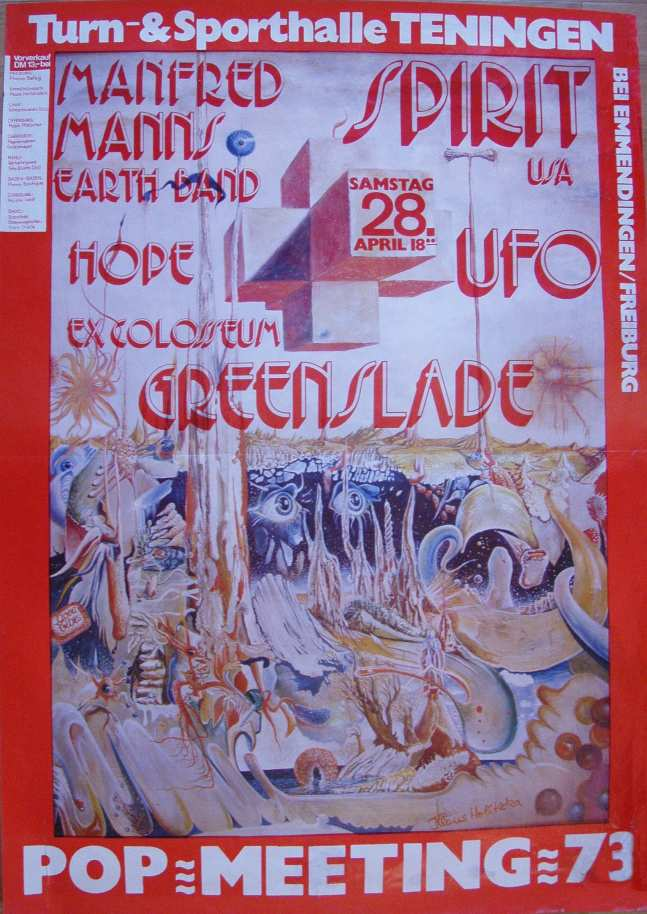Festival Poster Tenningen Germany 28 Apr 1973