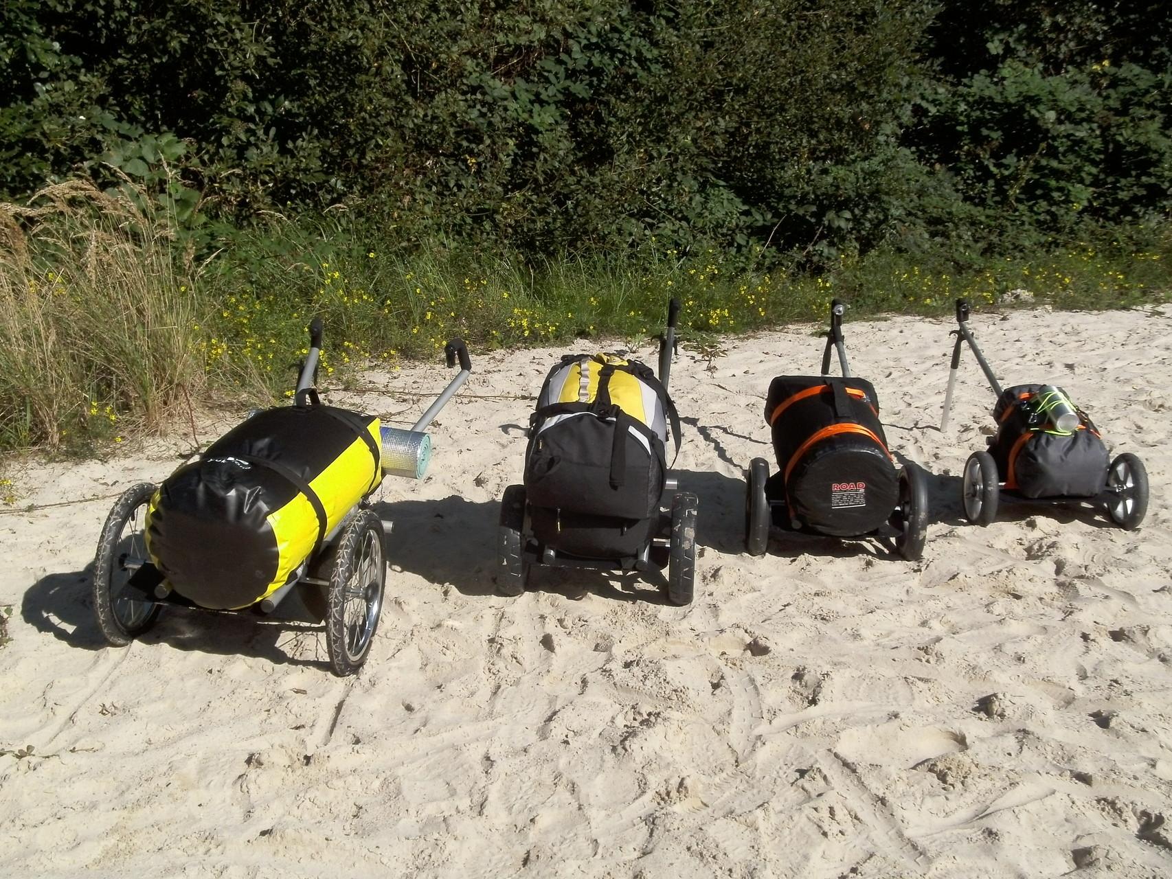 für 4 Gepäck-Gewichte und Größen