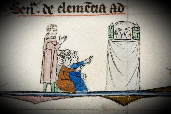 Kinder beim Puppenspiel | Brügge | Miniatur | 13. Jahrhundert