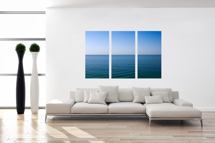 SKY AND SEA - TRIPTYCHON UNTER ACRYL