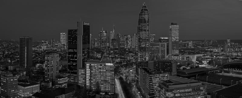 Skyline Frankfurt Panoramafotos in Schwarzweiß 30