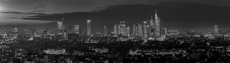 Skyline Frankfurt Panoramafotos in Schwarzweiß 29