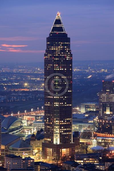 Skyline Frankfurt im Hochformat 02