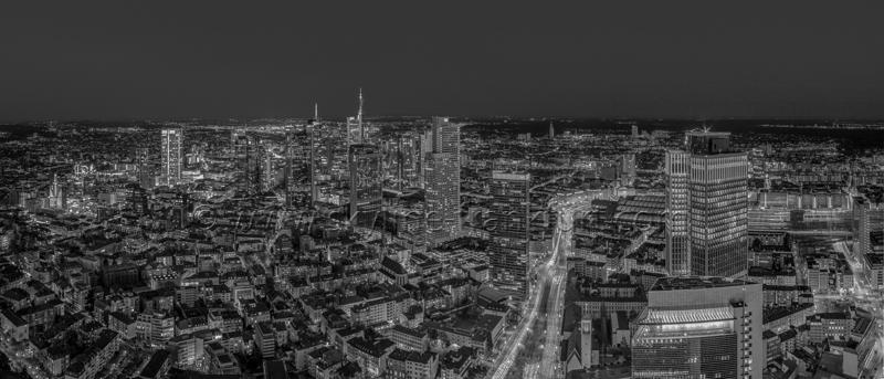 Skyline Frankfurt Panoramafotos in Schwarzweiß 41