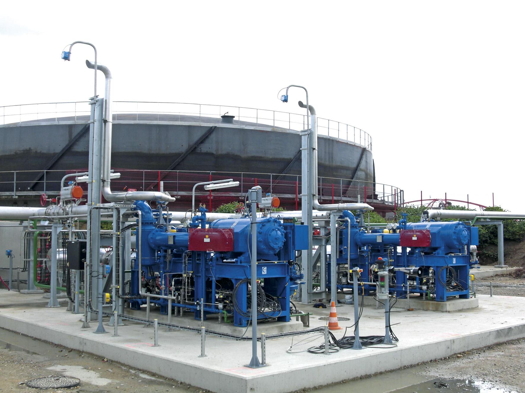 Sopladores compresores para biogas