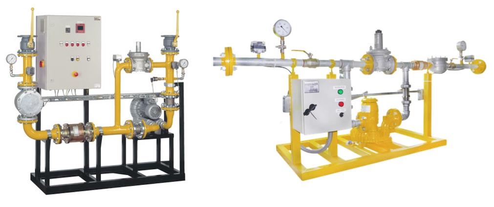 Sopladores y trenes de calibración para biogas