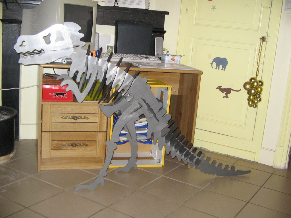 Puzzle 3D tyrannosaure Acier