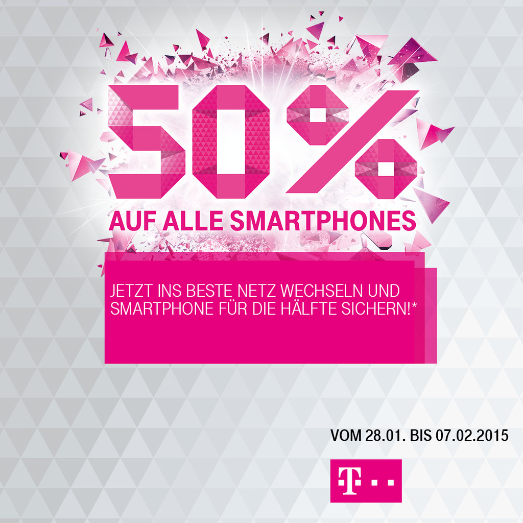 50 auf alle smartphones nur vom magentafriends dein telekomshop in eutin. Black Bedroom Furniture Sets. Home Design Ideas