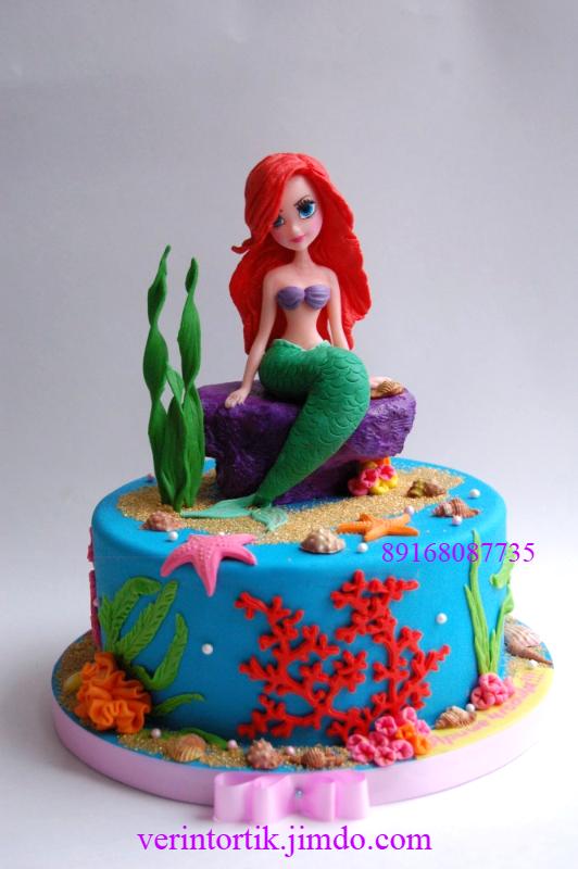 Торт с русалками фото