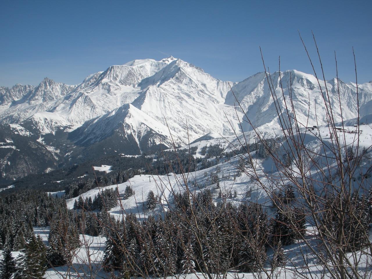 Mont Blanc vu depuis le Mont d'Arbois (pistes)