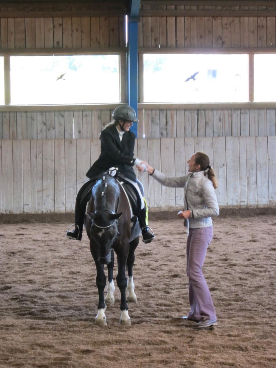 Siegerehrung: Sara Fasching mit Aron (3. Platz)