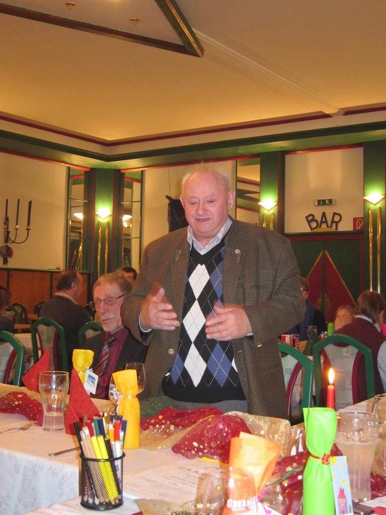 Unser Ehrenmitglied Alois Wühl sen. bei einer kurzen Ansprache