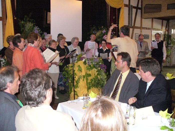 Unser Rahmenprogramm mit dem Chor aus Ihl.-Steinau-Odisheim