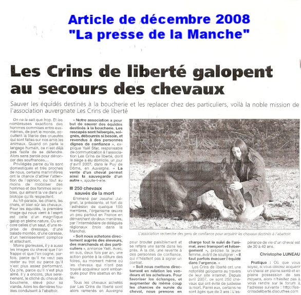 La presse de la Manche - Décembre 2008