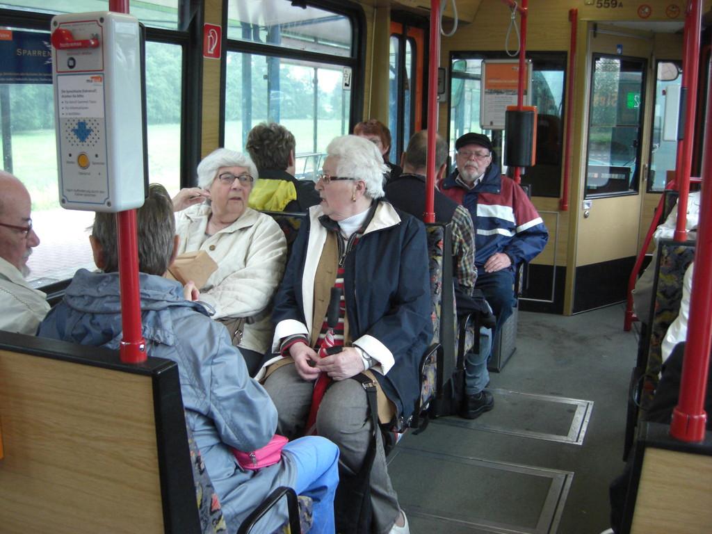 Entspannte Bahnfahrt