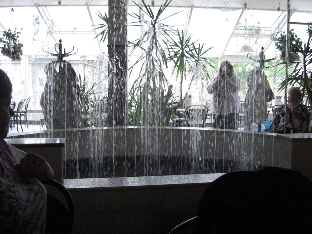 die Wasserorgel im Café Heyse