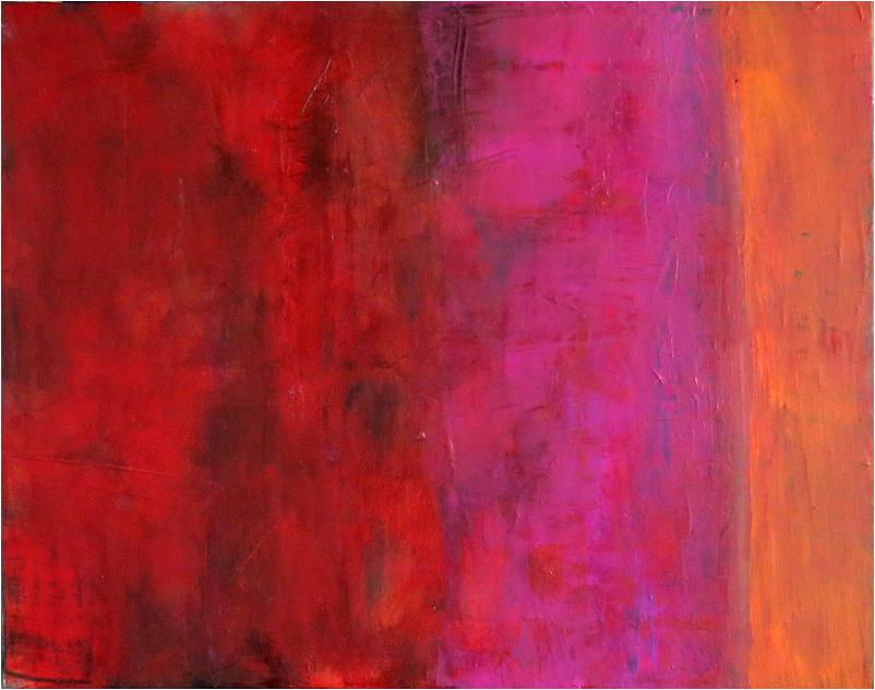 """Serie Rot II"" Öl auf Leinwand 40 x 50 cm € 500,-"