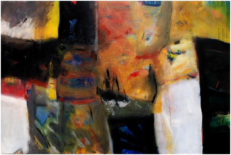"""""""Don't stop the music"""" Öl auf Leinwand 150 x 100 cm € 1.200,-"""