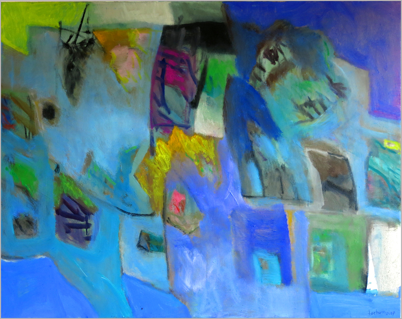 """Blues and no end""  -  Öl auf Leinwand 80 x 100 cm € 600,-"
