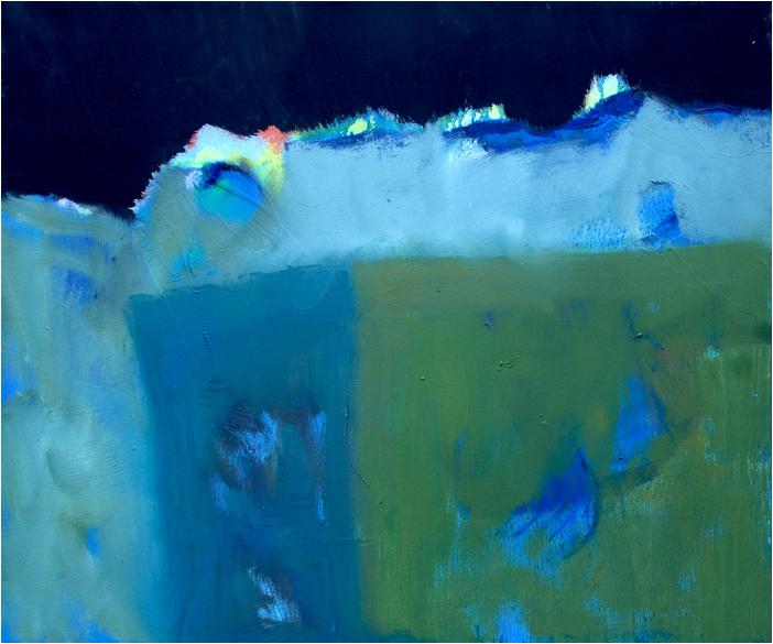 """Horizont II"" Öl auf Leinwand 50 x 60 cm € 500,-"