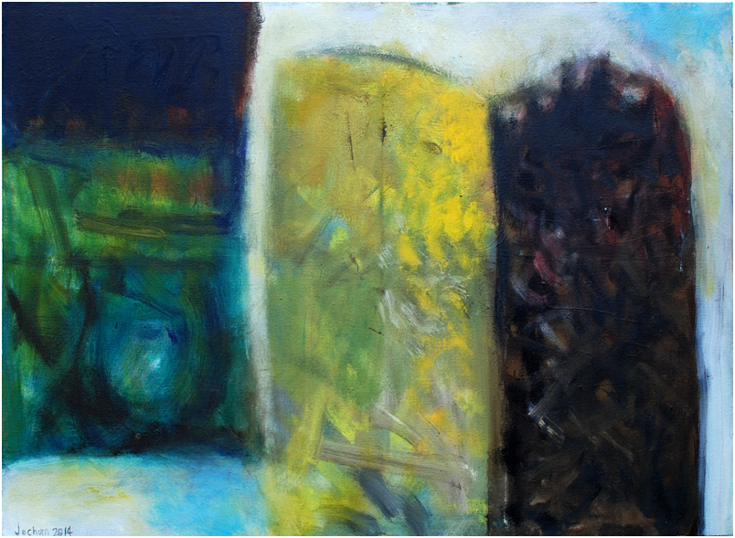 """Dreiklang I"" Öl auf Leinwand 55 x 75 cm € 500,-"