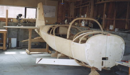 Some front fuselage skinning with compound bends