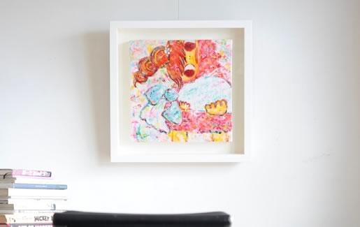 ロッカクアヤコの作品もノイズキング藝術額装店にお任せ下さい。