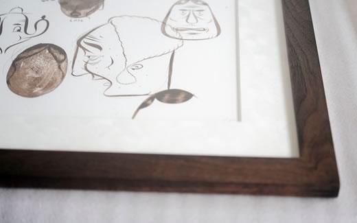 Barry Mcgee(バリー・マッギー)の作品を額装しました。