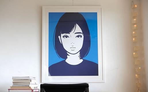 KYNE(キネ)100万円を超えるシルクスクリーン作品の額装は何?