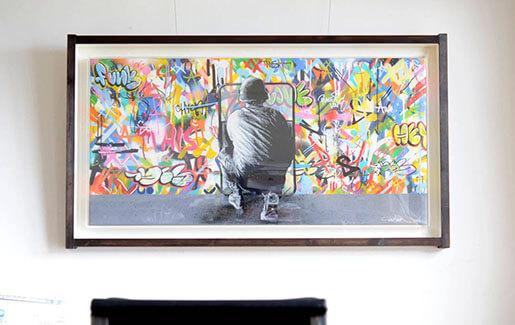 Martin Whatson(マーティン・ワトソン)のキャンバス作品を額装しました。