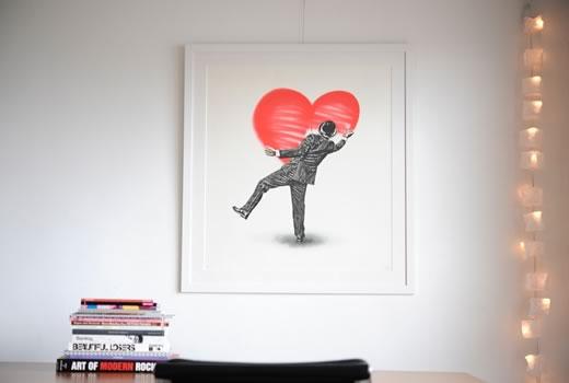 Nick Walker 'Love Vandal' をフレーム/額縁「Eternity White」で額装しています