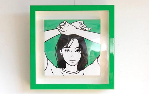 KYNEのキャンバス作品を額装しました。