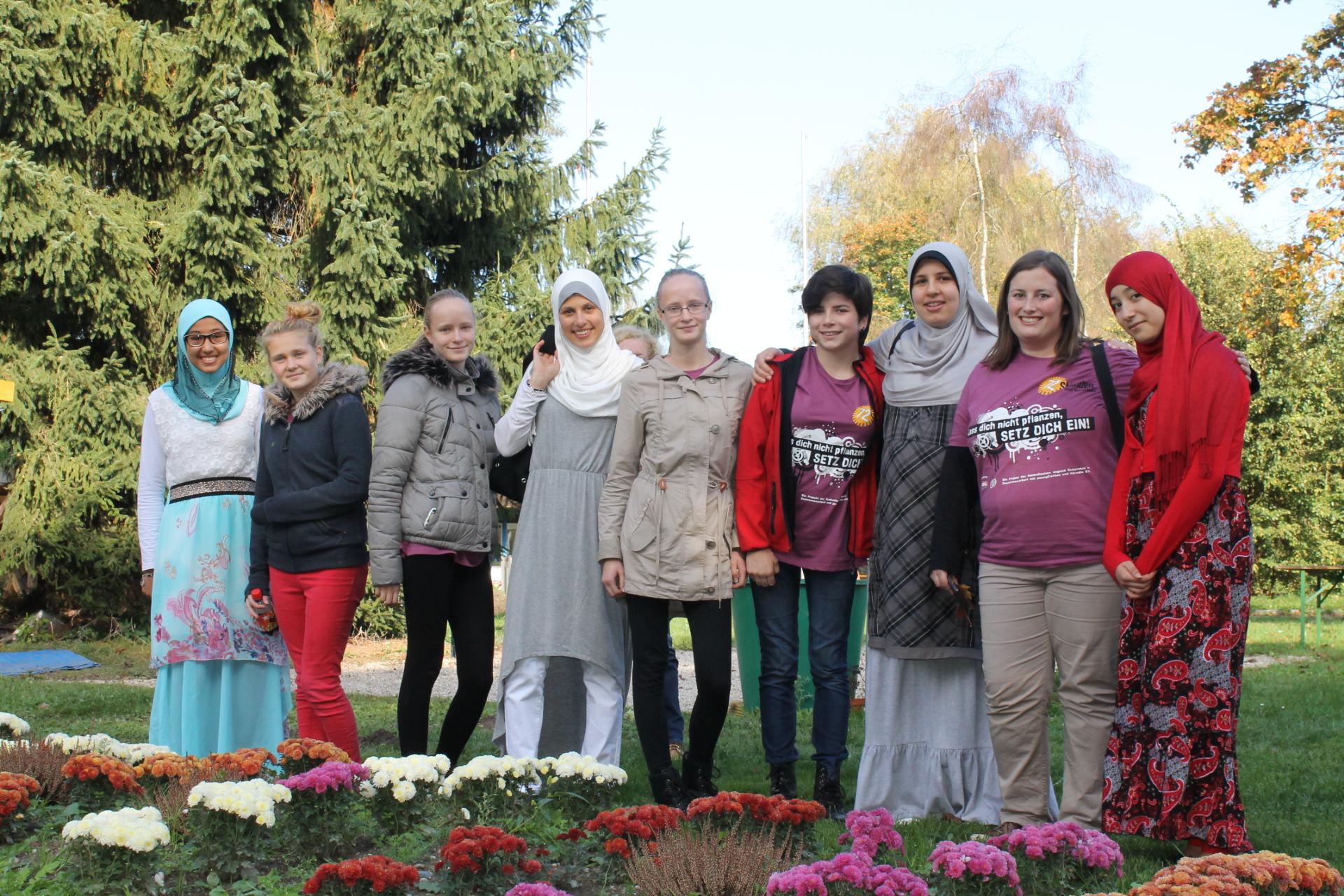 Katholische Jugend mit muslimischen Jugendlichen aus dem IFZ