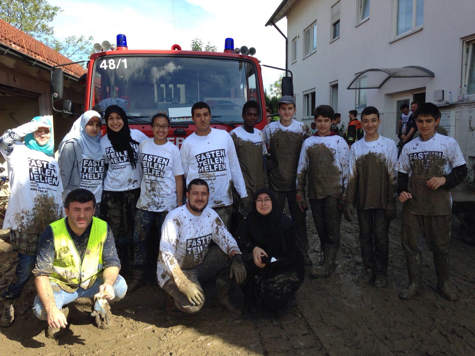 Mehrmals in Simbach helfen: Nach der Hochwasserkatastrophe