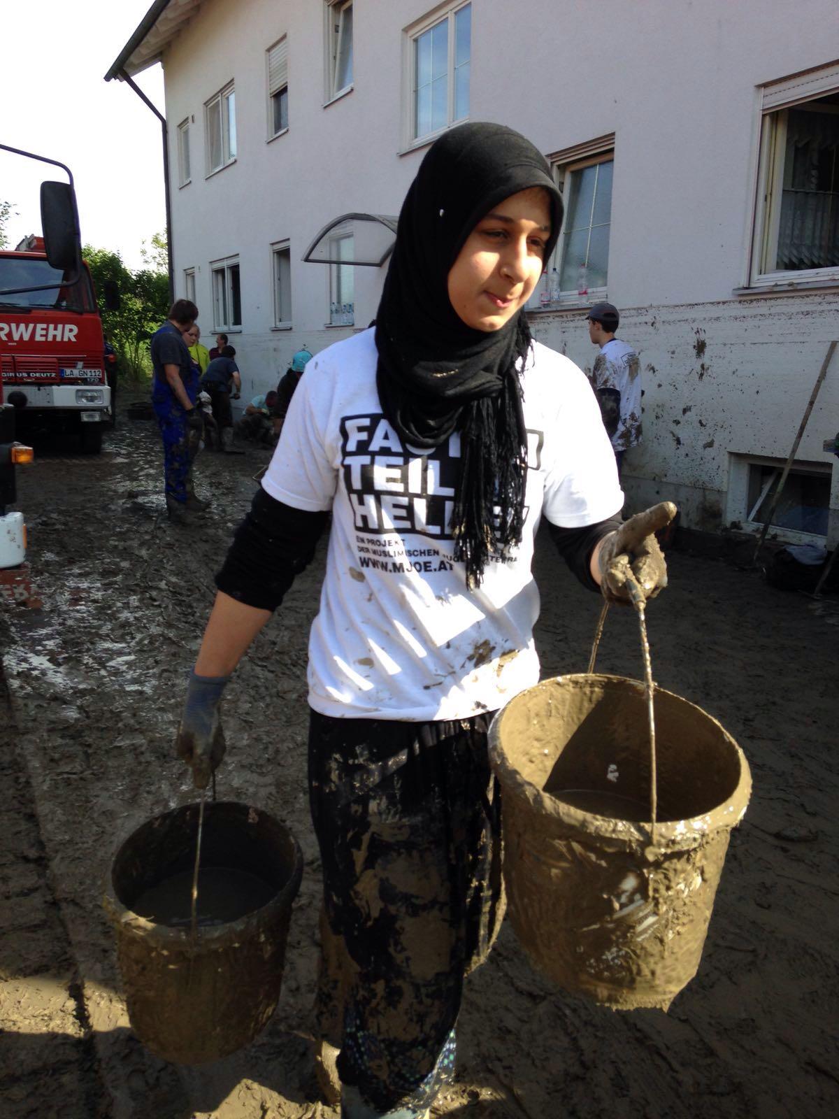 ...nahmen unzählige Jugendliche an der Hilfsaktion teil